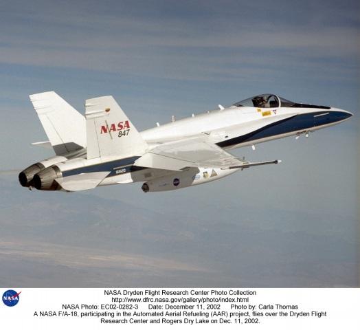 AAR EC02-0282-3: A NASA F/A-18, participating in the ...