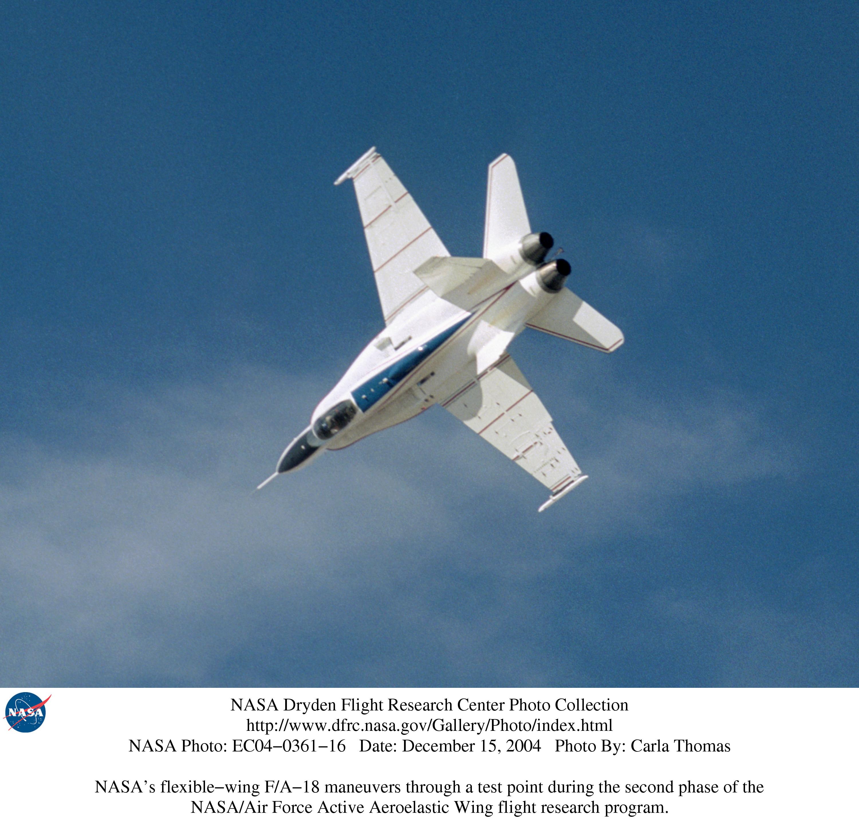 Nasa dryden active aeroelastic wing aaw photo collection for Nasa air study