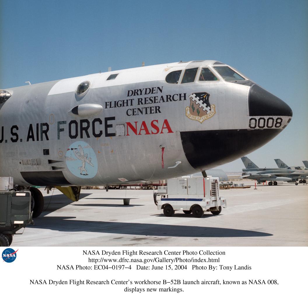 Nasa dryden b 52 mothership photo collection for Nasa air study