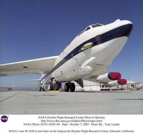 Nasa S B 52h Is Seen Here On The Ramp At The Dryden Flight