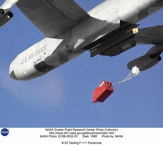B-52 EC88-0032-03: B-52 Testing F-111 Parachute