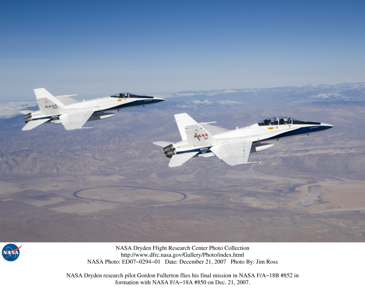 NASA Dryden F-18 Chase Aircraft Photo Collection