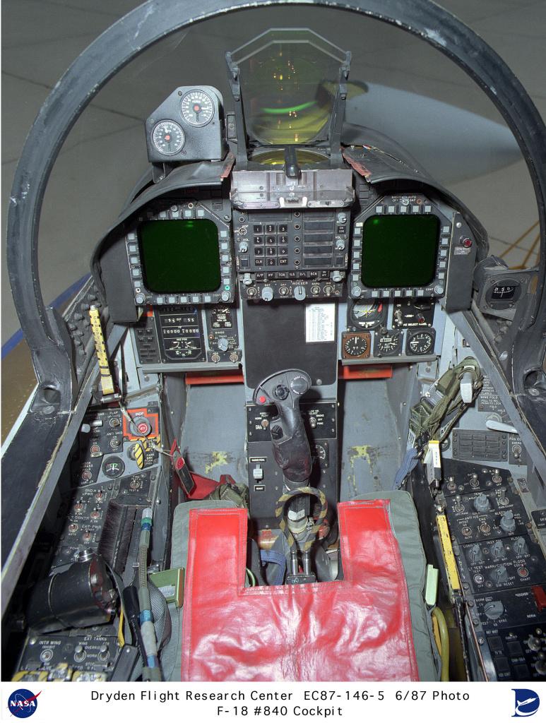 F 18 Cockpit F-18HARV EC87-146-5: F...