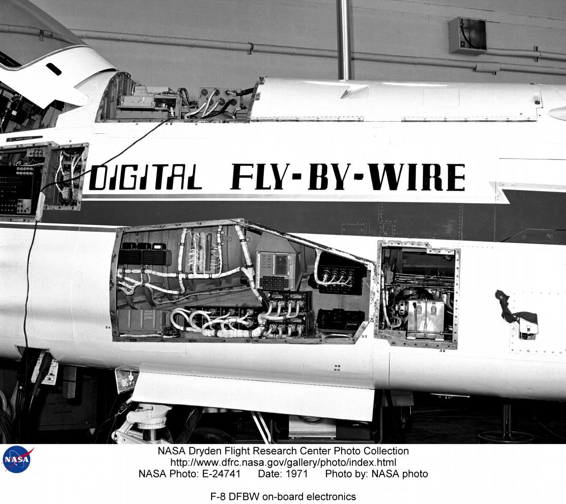 F-8SCW E-24741: F-8 DFBW on-board electronics
