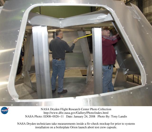 Nasa Dryden Orion Crew Module Photo Collection