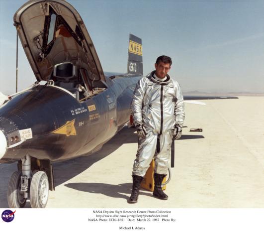 X-15 Astronaut Mike Adams, NASA photo ECN-1651 (22 March 1967)Source: Dryden Pilots Photo Collection ECN-1651.jpg