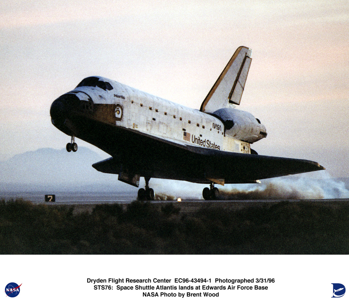 space shuttle landing at edwards air force base - photo #1