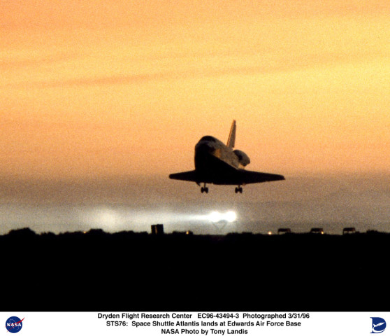 space shuttle landing at edwards air force base - photo #6