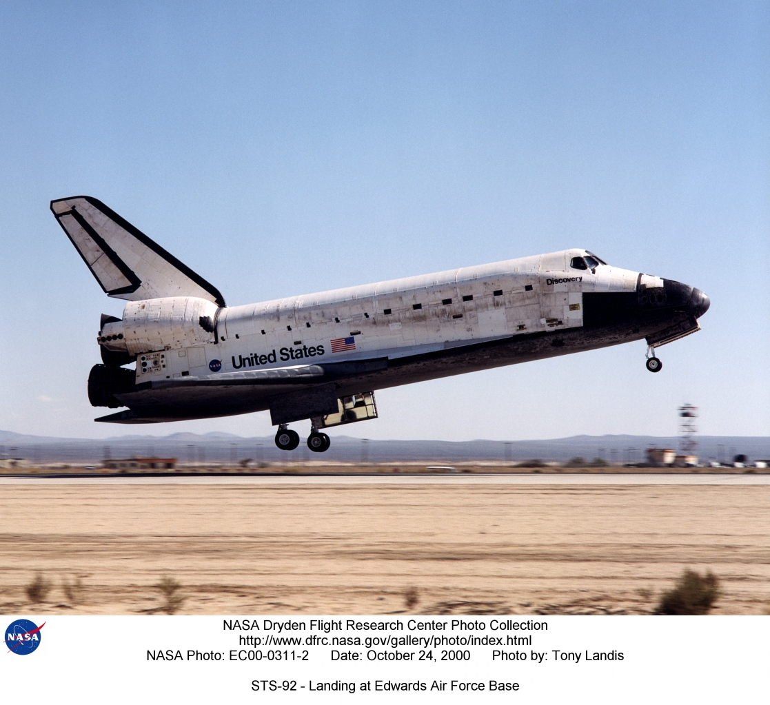 space shuttle landing at edwards air force base - photo #41