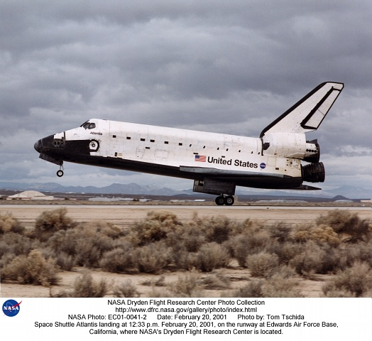 space shuttle landing at edwards air force base - photo #38