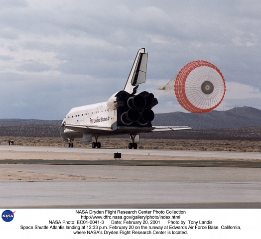 space shuttle landing at edwards air force base - photo #19