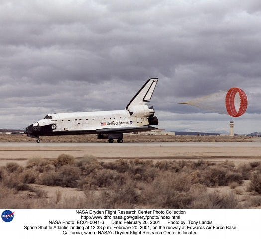 space shuttle landing at edwards air force base - photo #13