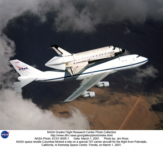 STS-Ferry EC01-0055-1: NASA space shuttle Columbia hitched ...