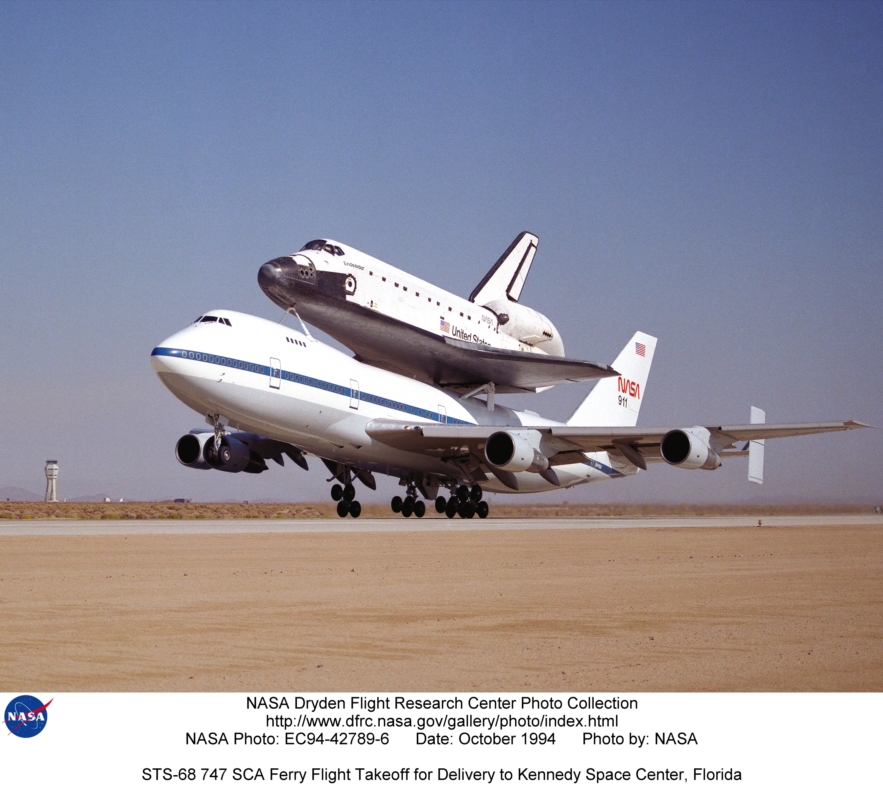 STS EC94-42789-6: STS-68 747 SCA Ferry Flight Takeoff for ...