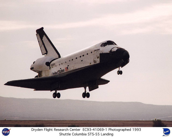 Image result for sts-55 landing