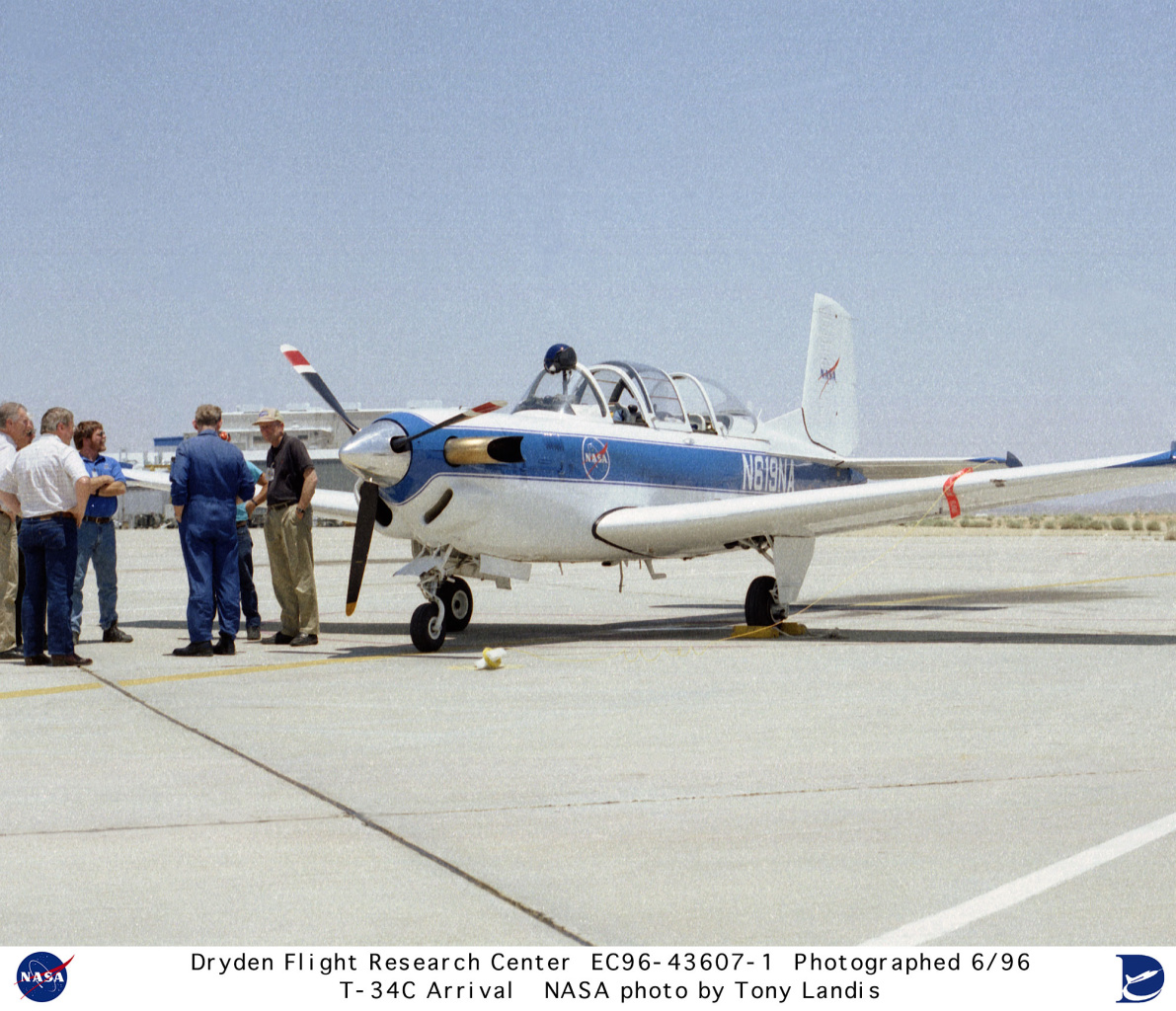 Used Turboprop: T-34C EC96-43607-1: NASA T-34C Arrival At Dryden