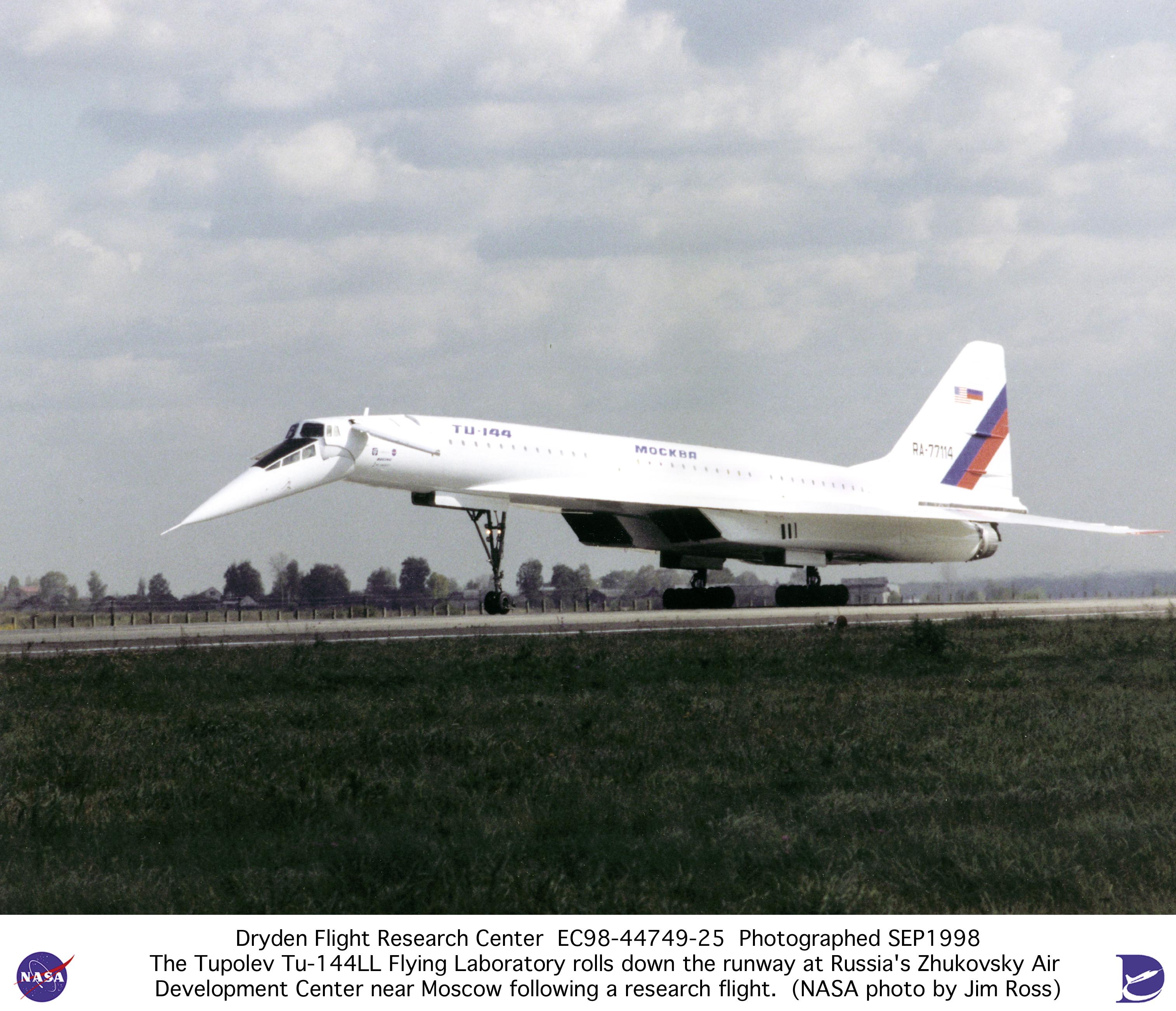 Tu: TU-144LL EC98-44749-25: Tu-144LL SST Flying Laboratory