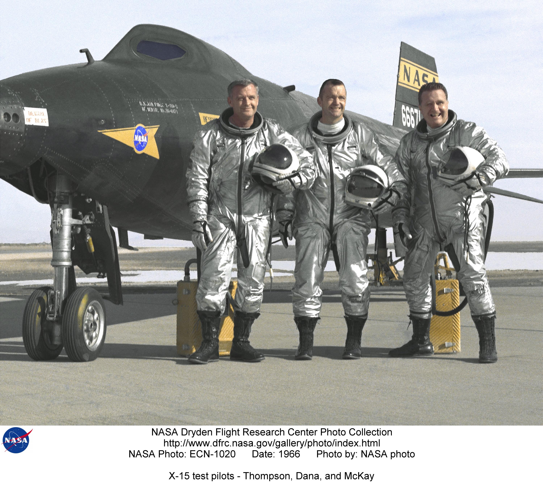 X-15 ECN-1020: X-15 test pilots - Thompson, Dana, and McKay