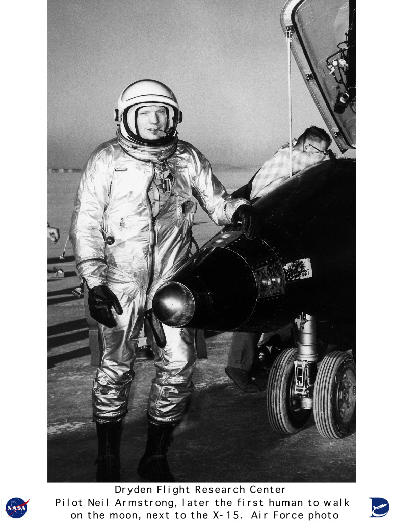 X-15 E-USAF-Armstrong-X-15: Pilot Neil Armstrong with X-15 #1