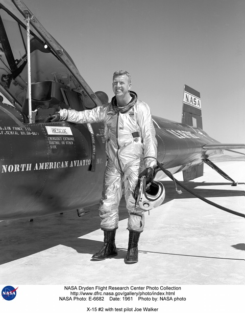 X15 E606286 Pilot Neil Armstrong with X15 1
