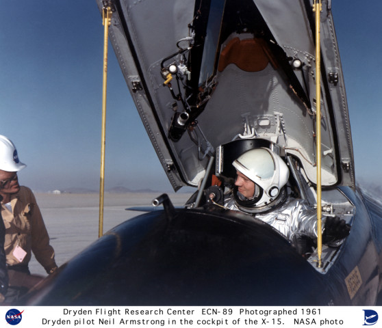 X-15 ECN-89: Pilot Neil Armstrong in the X-15 #1 cockpit