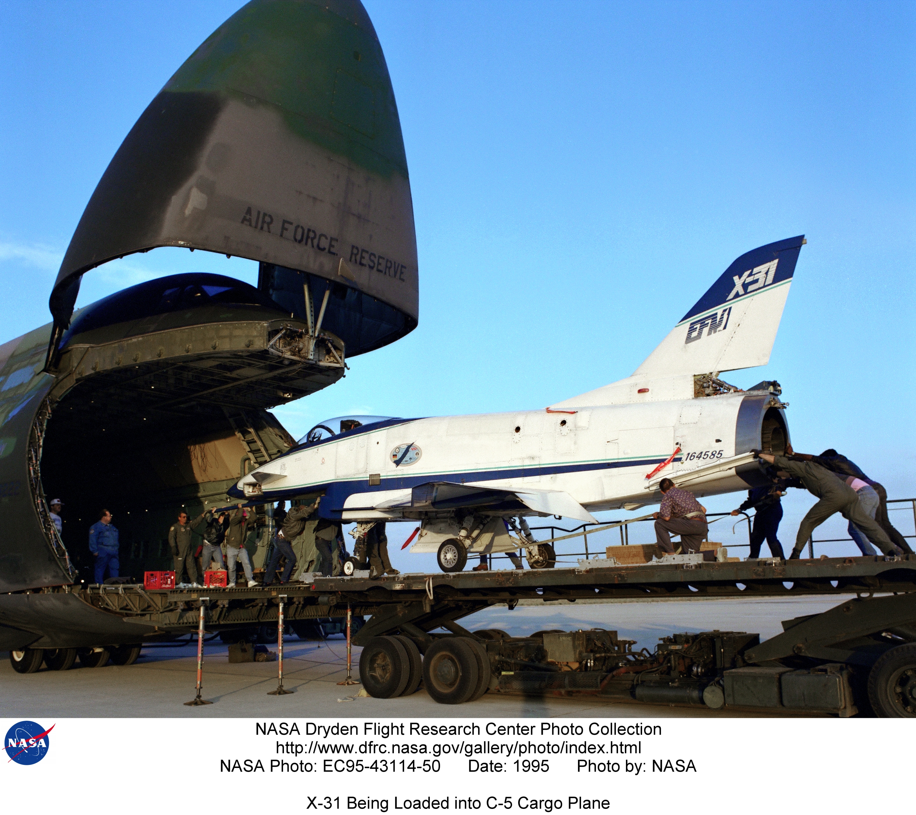 X 31 Ec95 43114 50 X 31 Being Loaded Into C 5 Cargo Plane