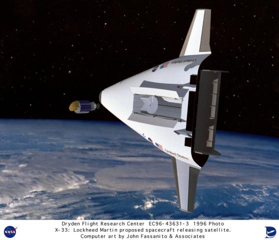 X-33 EC96-43631-3: VentureStar by Lockheed Martin ...