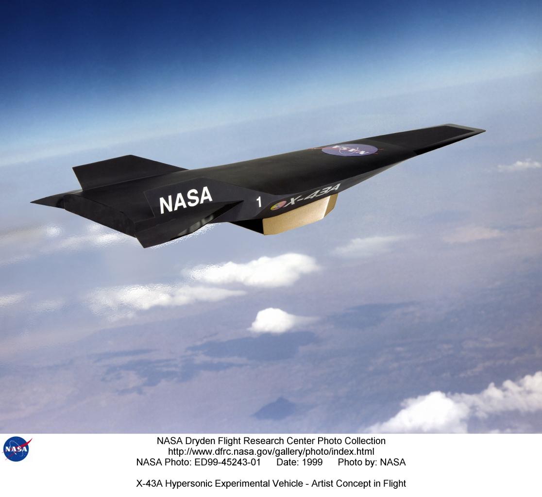 Avión Experimental Nasa alcanza velocidad Hipersonica ED99-45243-01